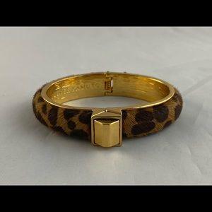 Vince Camuto faux fur leopard clamper bracelet